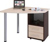 Компьютерный стол Сокол КСТ-102 правый (венге/беленый дуб)