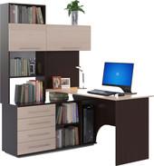 Компьютерный стол Сокол КСТ-14 левый (венге/беленый дуб)