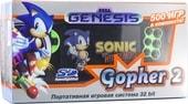 Игровая приставка Retro Genesis Gopher 2 (черный/зеленый, 700 игр)