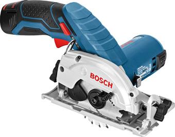 Дисковая (циркулярная) пила Bosch GKS 12V-26 Professional 06016A1005 (с 2-мя АКБ 3 Ah)