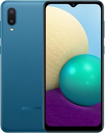 Смартфон Samsung Galaxy A02 SM-A022G/DS 2GB/32GB (синий)