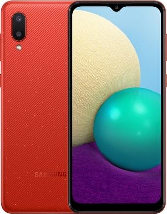 Смартфон Samsung Galaxy A02 SM-A022G/DS 2GB/32GB (красный)