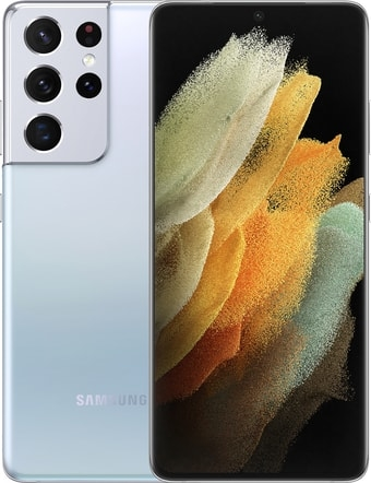 Смартфон Samsung Galaxy S21 Ultra 5G 12GB/128GB (серебряный фантом)