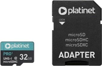 Карта памяти Platinet PMMSD32UI 32GB + адаптер