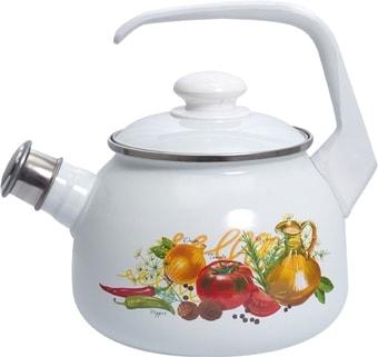 Чайник со свистком Лысьвенские эмали Итальянская кухня С-2711АП/4Рч