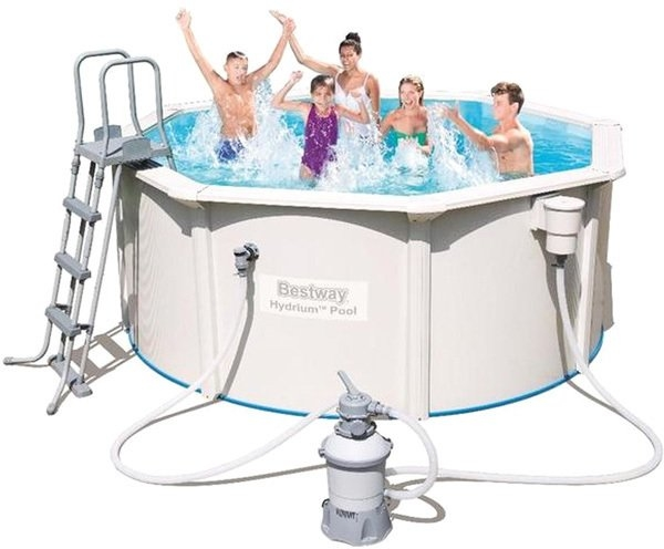 Каркасный бассейн Bestway Hydrium Pool 300×120 [56566]