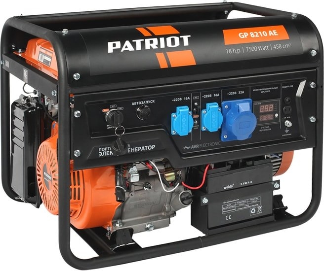 Бензиновый генератор Patriot GP 8210AE