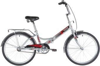 Велосипед Novatrack TG-24V 2020 (серый)