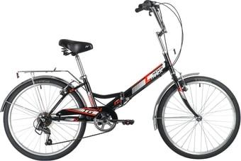 Велосипед Novatrack TG-24 Classic 6.0 FS 2020 (черный)