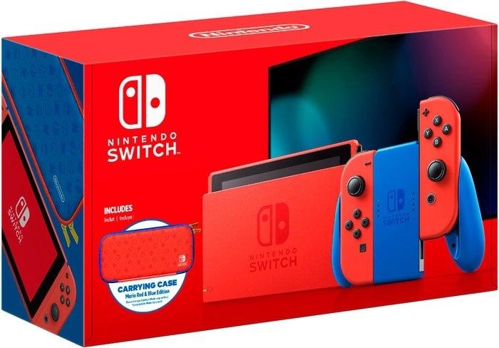 Игровая приставка Nintendo Switch Mario Red & Blue Edition