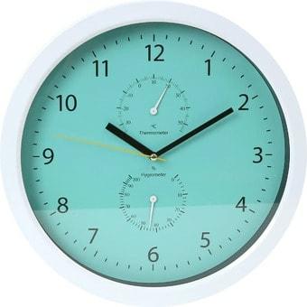 Настенные часы Platinet Temp PZSGC (голубой/белый)
