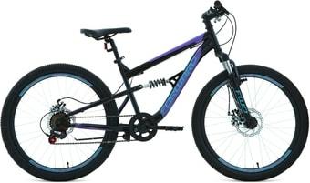 Велосипед Forward Raptor 24 2.0 disc 2021 (черный/фиолетовый)