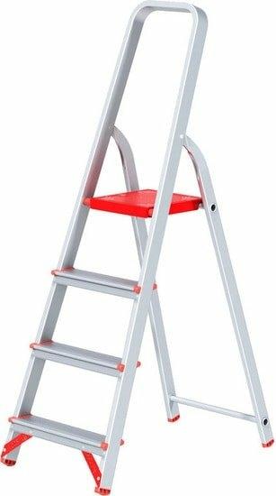 Лестница-стремянка Новая высота NV 311 алюминиевая профессиональная 4 ступени