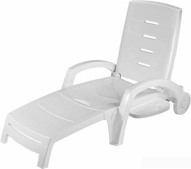 Шезлонг Стандарт пластик 150-0008-01 (белый)