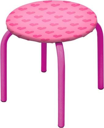 Детский стул Nika Табурет-М ТМ/2 (с сердечками на розовом)
