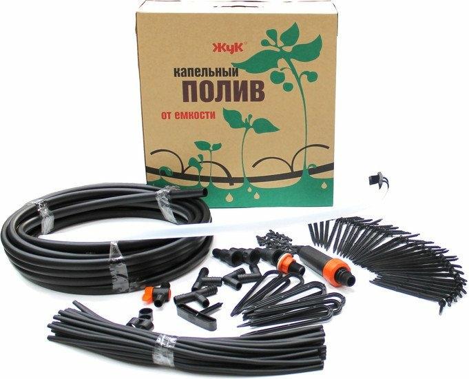 Система полива Жук Капельный полив от ёмкости Автомат на 60 растений (с таймером)