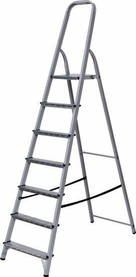 Лестница-стремянка Новая высота NV 1132 стальная 7 ступеней