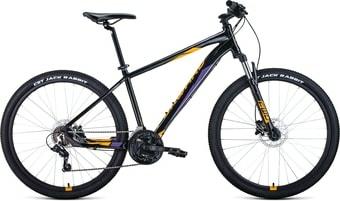 Велосипед Forward Apache 27.5 3.2 disc р.21 2021 (черный/желтый)