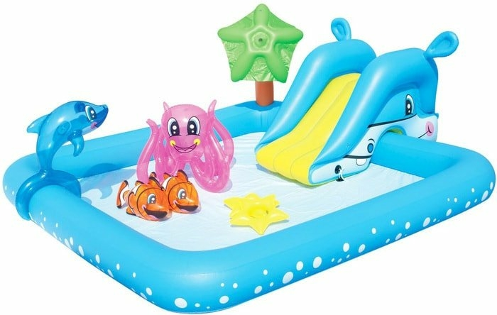 Надувной бассейн Bestway Аквариум 53052 (239x206x86)