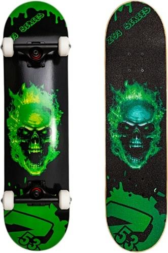 Скейтборд Z53 Зеленый череп 31.1″