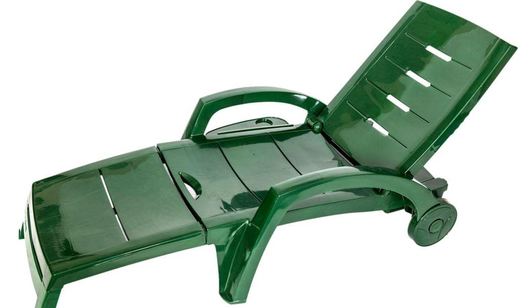 Шезлонг Стандарт пластик 150-0008-24 (темно-зеленый)
