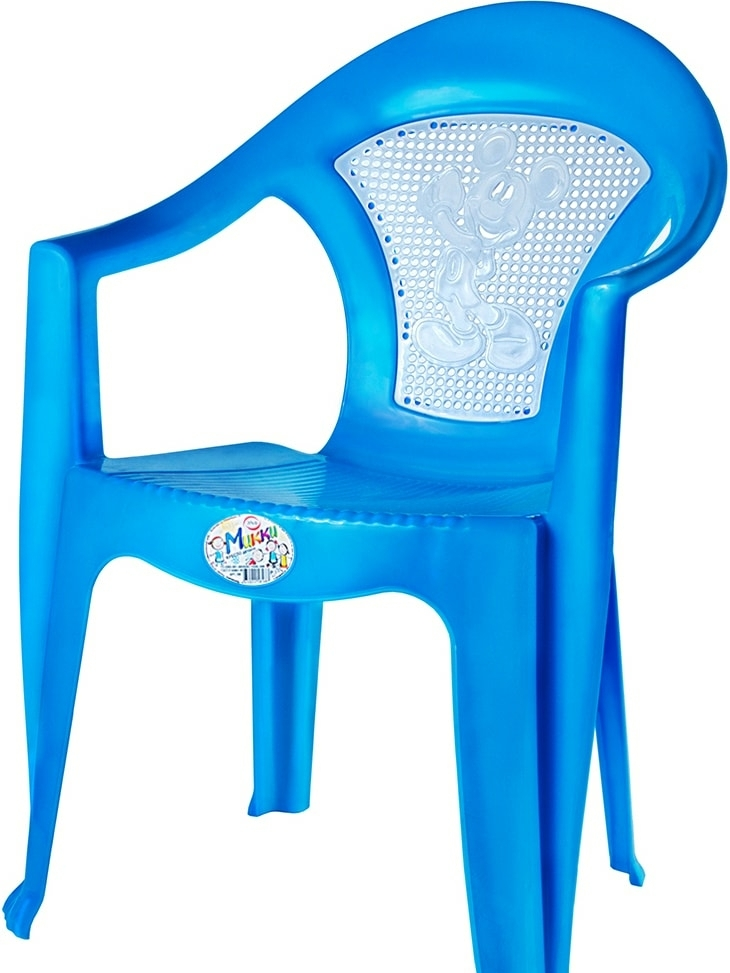 Детский стул Эльфпласт Микки (голубой)