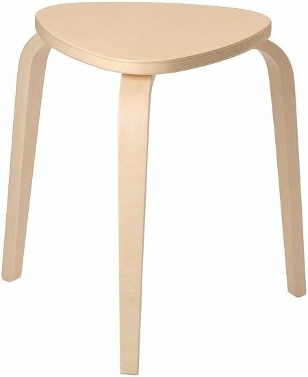 Табурет Ikea Кюрре (береза) 004.200.39