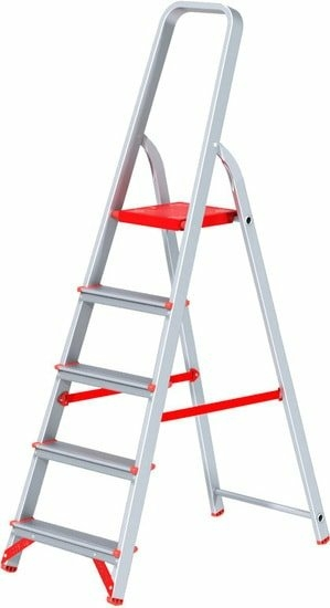 Лестница-стремянка Новая высота NV 311 алюминиевая профессиональная 5 ступеней