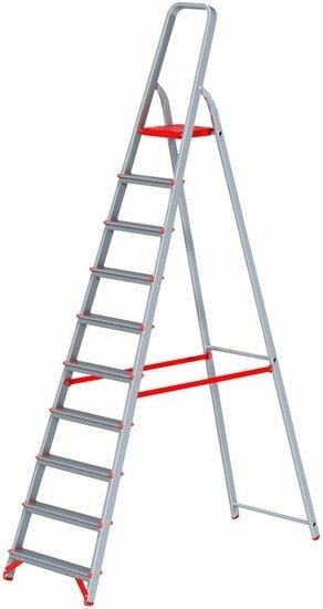Лестница-стремянка Новая высота NV 311 алюминиевая профессиональная 10 ступеней