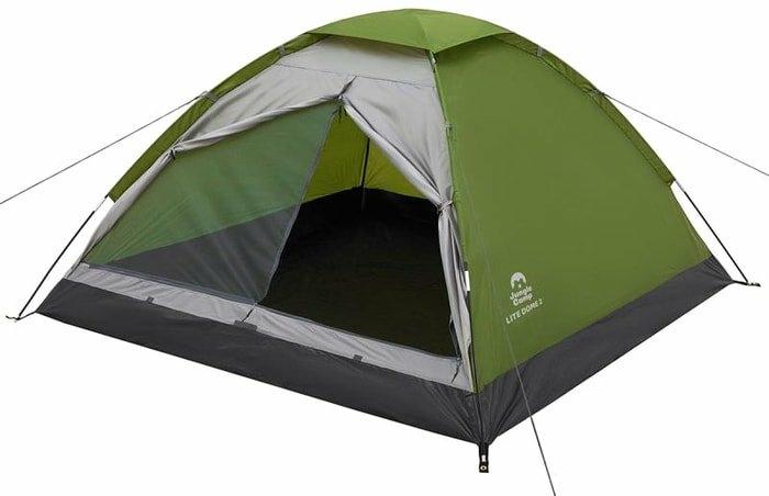 Треккинговая палатка Jungle Camp Lite Dome 4 (зеленый/серый)