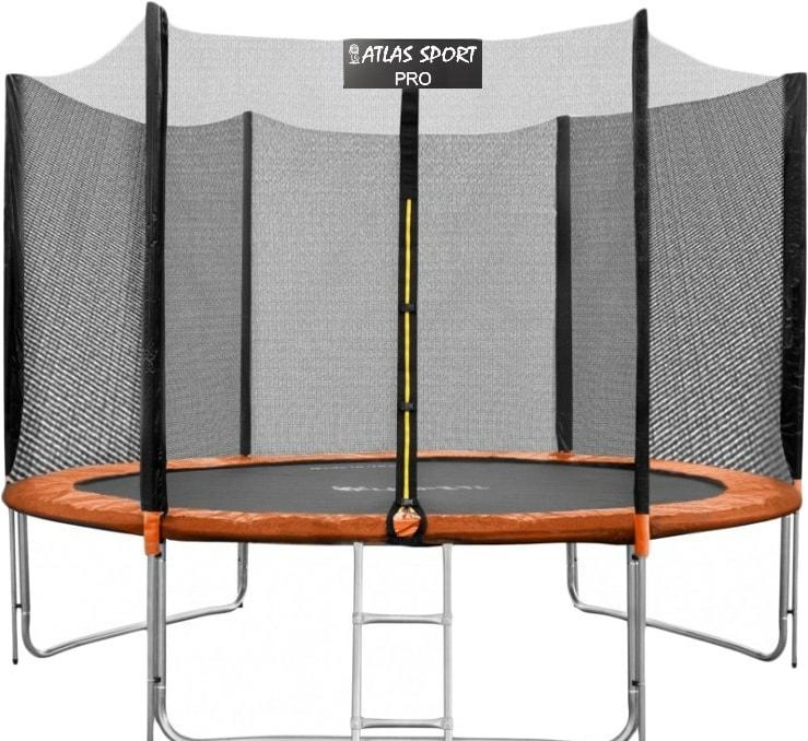 Батут Atlas Sport 312 см — 10ft Pro (3 ноги, оранжевый)