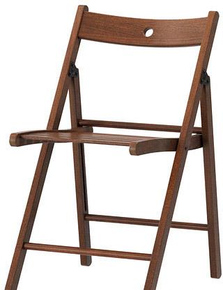 Стул Ikea Терье (коричневый) [603.609.71]