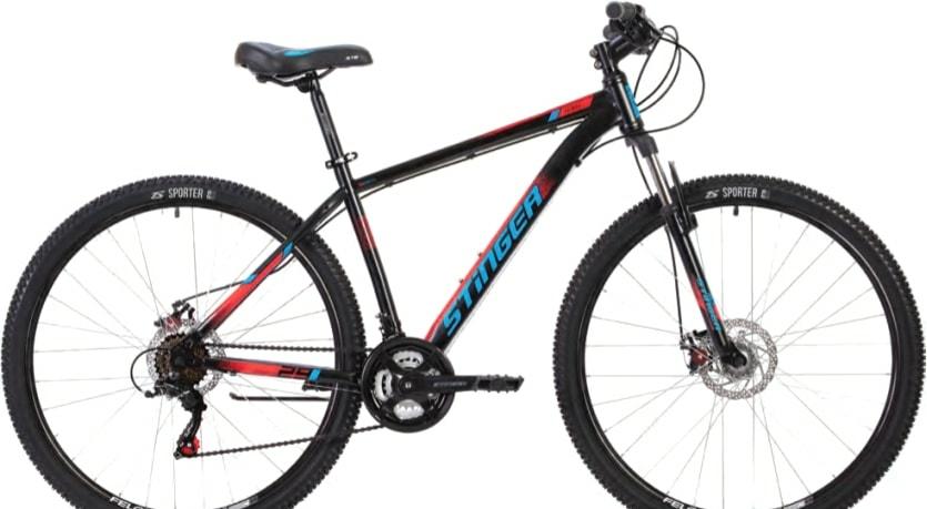 Велосипед Stinger Caiman Disc 27.5 р.16 2021 (черный)