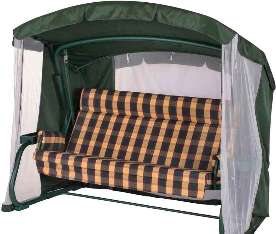 Садовые качели Удачная мебель Мерида премиум с подголовником (зеленый 334)