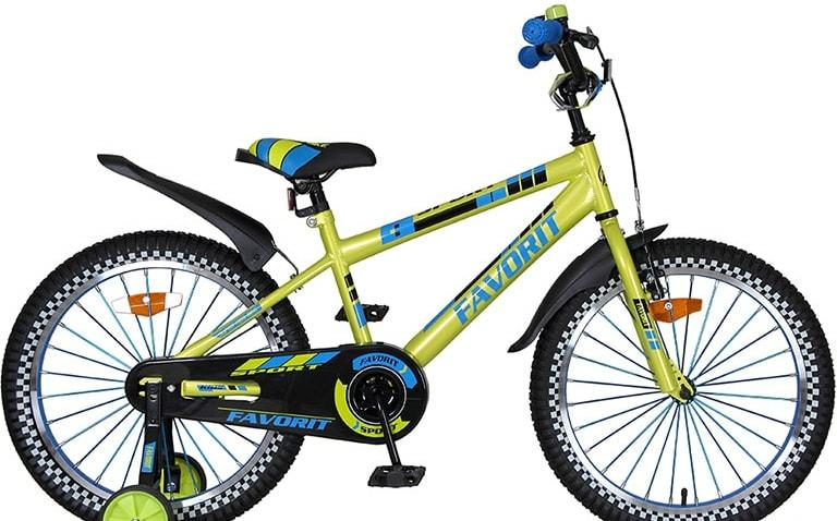 Детский велосипед Favorit Sport 20 (лаймовый, 2020)