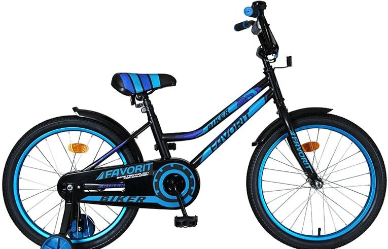 Детский велосипед Favorit Biker 20 2021 (черный/синий)