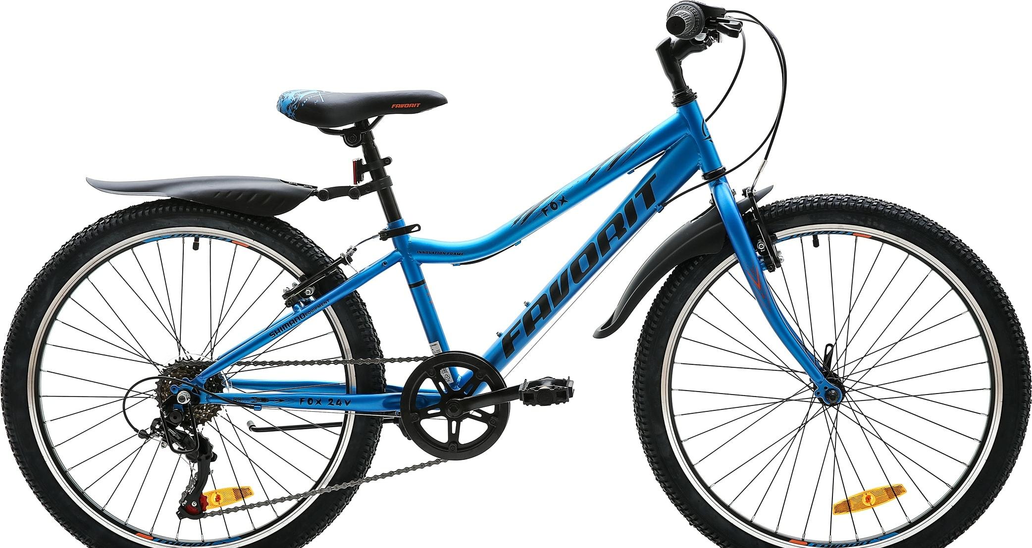 Велосипед Favorit FOX 24 V 2020 (синий)