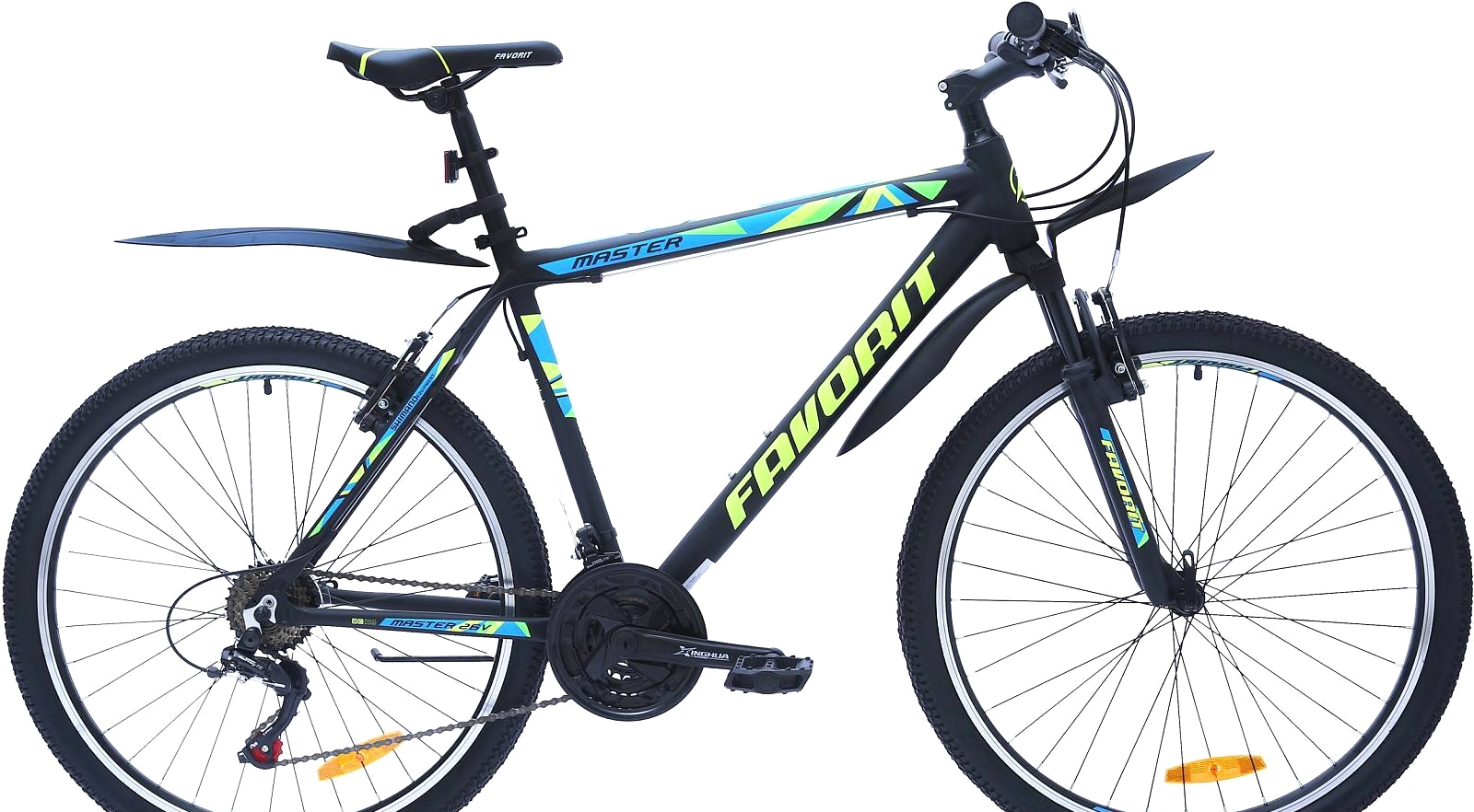 Велосипед Favorit Master V 26 (черный/желтый, 2019)