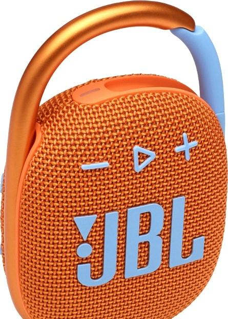 Беспроводная колонка JBL Clip 4 (оранжевый)