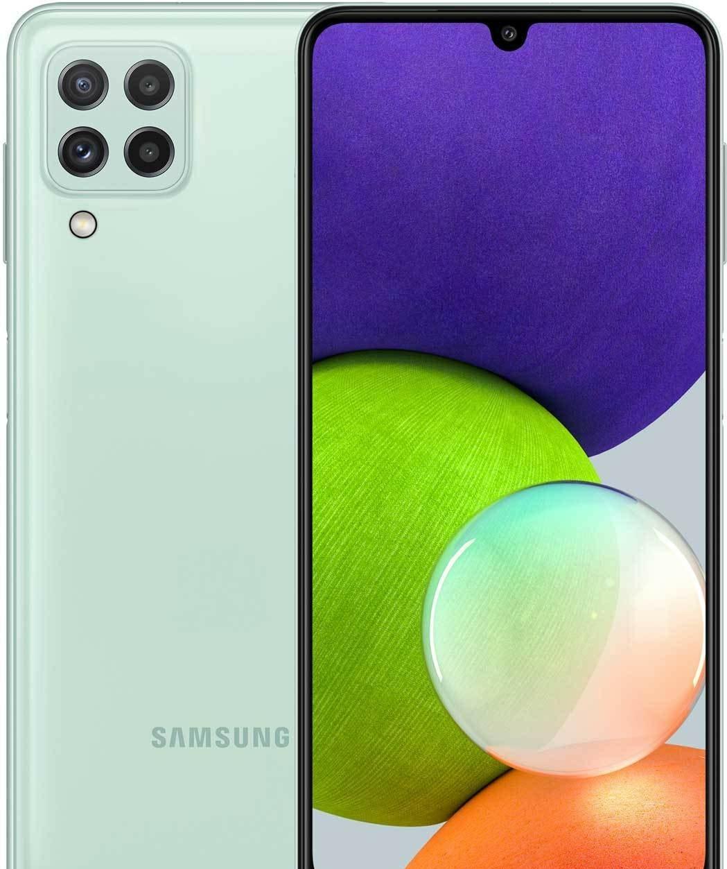 Смартфон Samsung Galaxy A22 SM-A225F/DSN 4GB/64GB (мята)