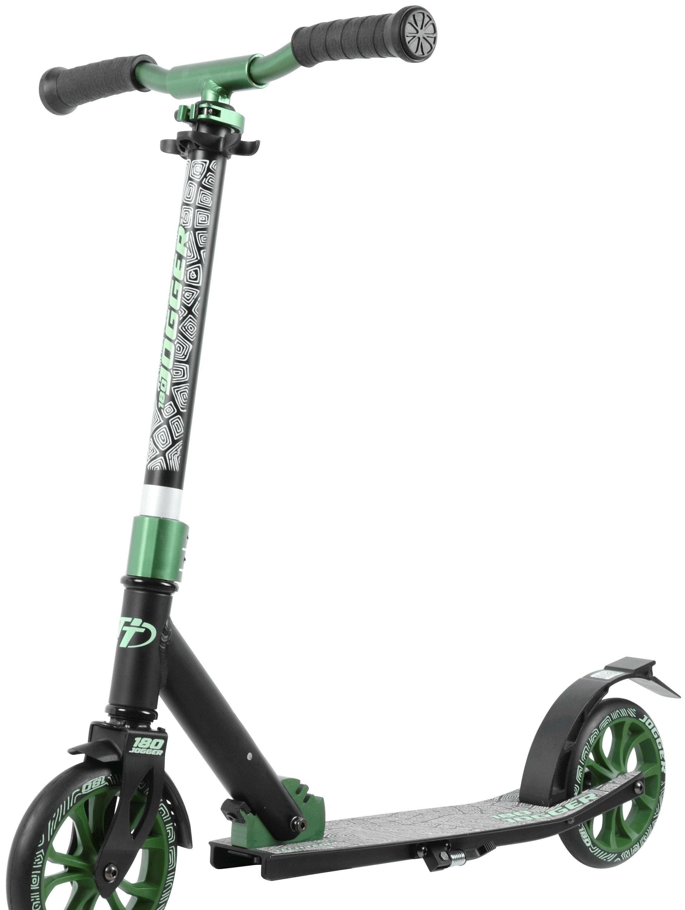 Самокат Tech Team Jogger 180 2020 (черный/зеленый)
