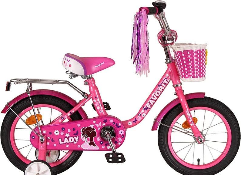 Детский велосипед Favorit Lady 14 2020 (розовый)