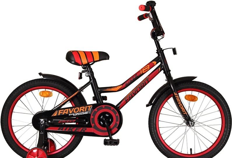 Детский велосипед Favorit Biker 18 2021 (черный/красный)