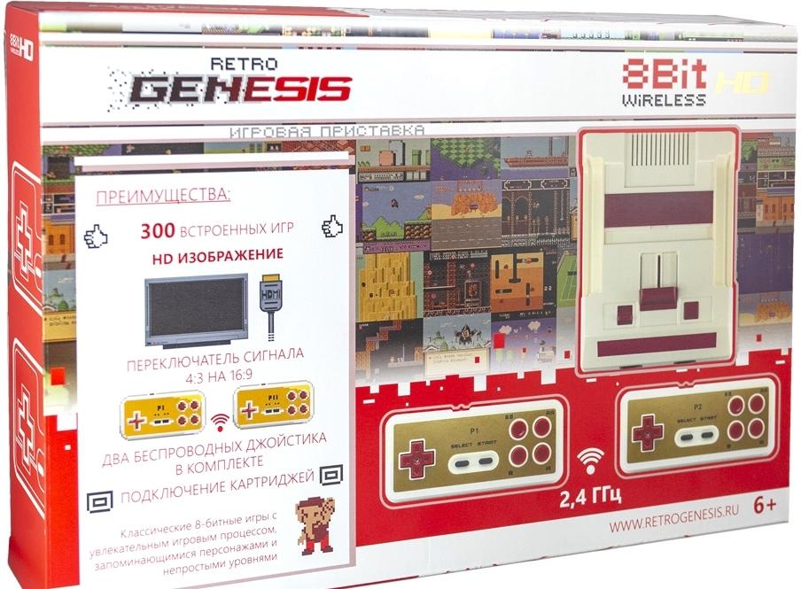 Игровая приставка Retro Genesis 8 Bit Wireless HD (2 геймпада, 300 игр)