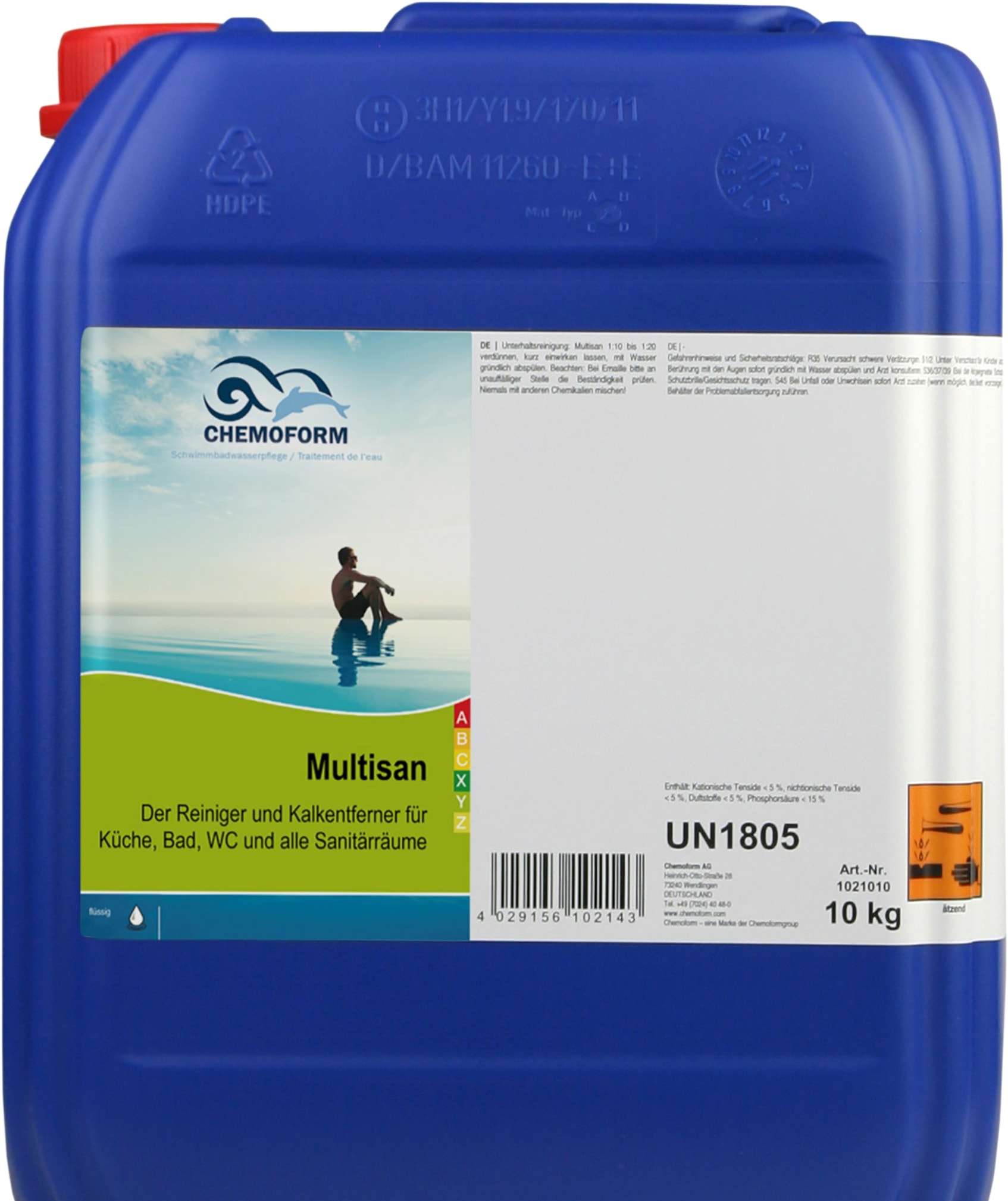 Химия для бассейна Chemoform Мультисан 10 кг