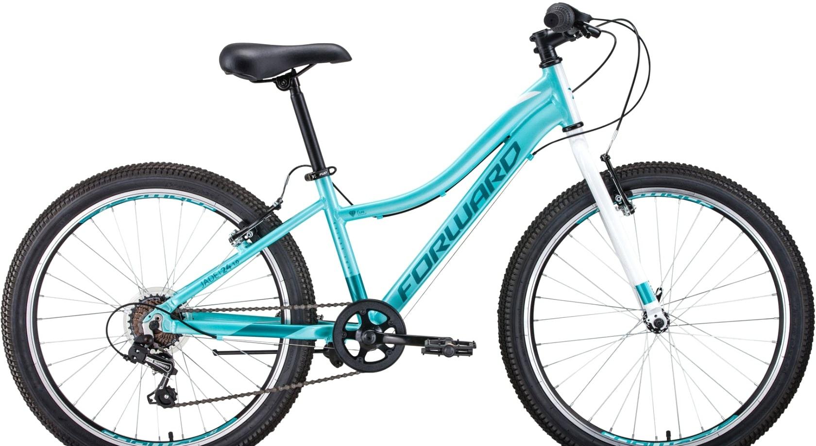 Велосипед Forward Jade 24 1.0 2020 (голубой)