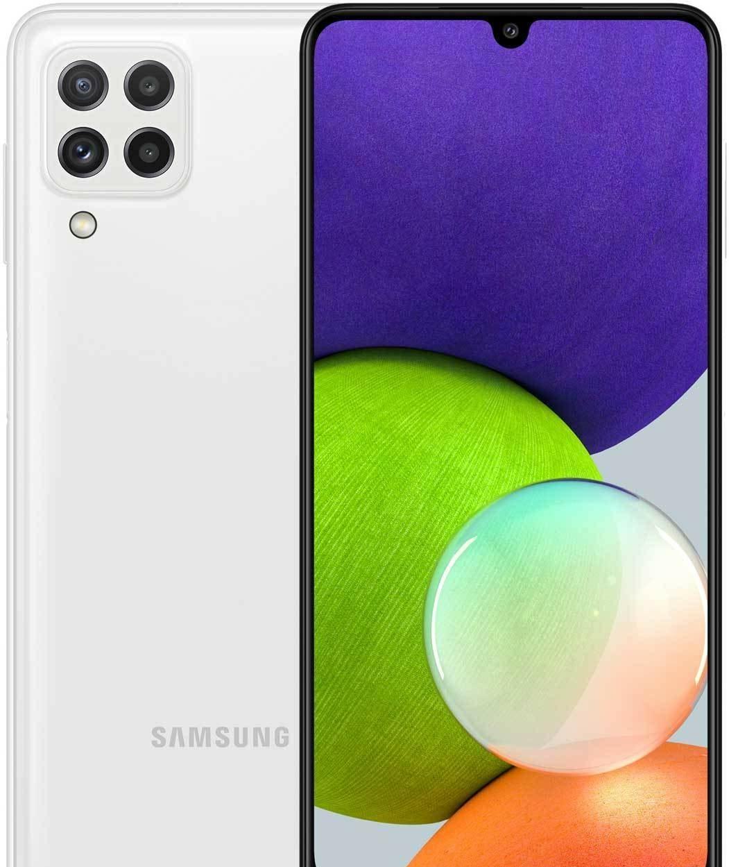Смартфон Samsung Galaxy A22 SM-A225F/DSN 4GB/64GB (белый)