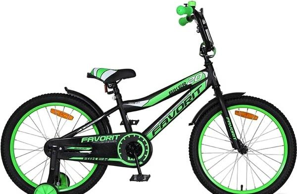 Детский велосипед Favorit Biker 20 2020 (черный/зеленый)
