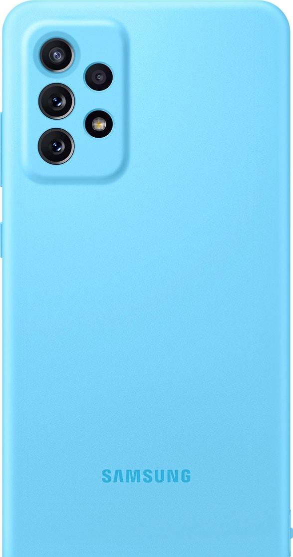 Чехол для телефона Samsung Silicone Cover для Samsung Galaxy A72 (синий)