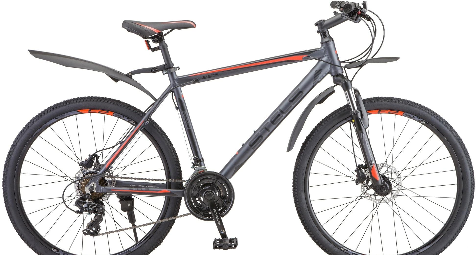 Велосипед Stels Navigator 620 D 26 V010 р.19 2020 (антрацит)